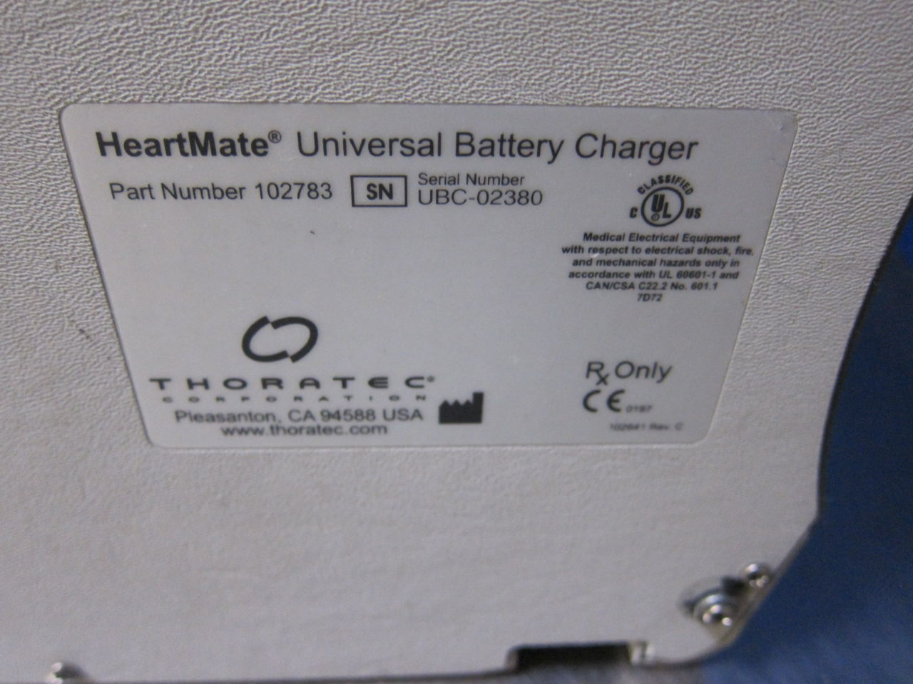 THORATEC Universal  - Lot of 3 Battery Charger