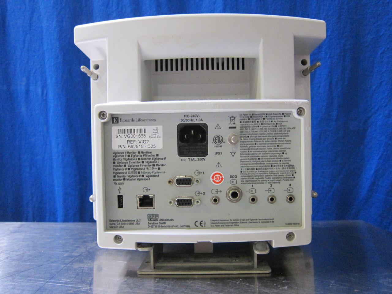 EDWARDS LIFE SCIENCE Vigilance II Monitor