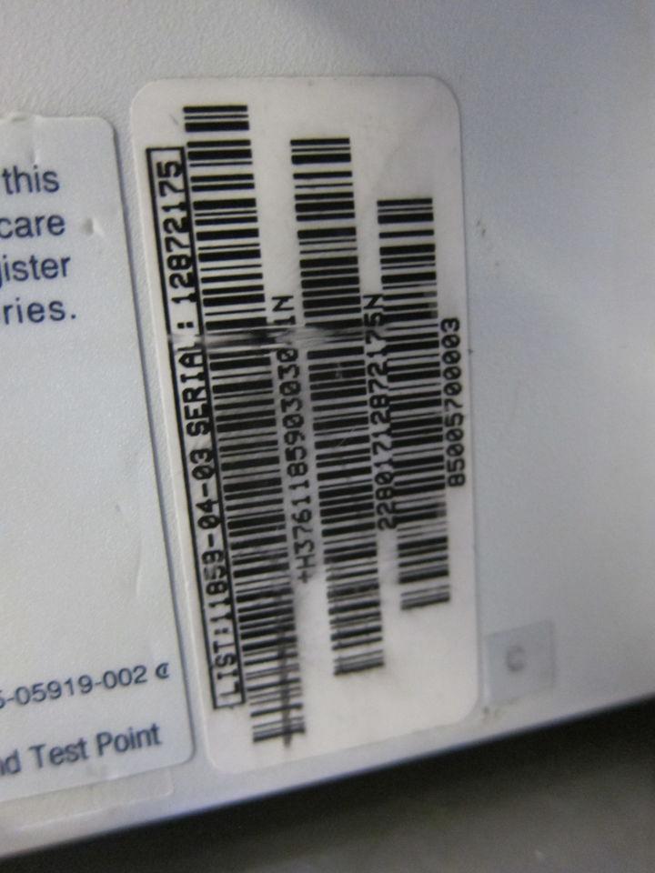 ABBOTT LABORATORIES Micro Macro XL w/ Data Port Monitor
