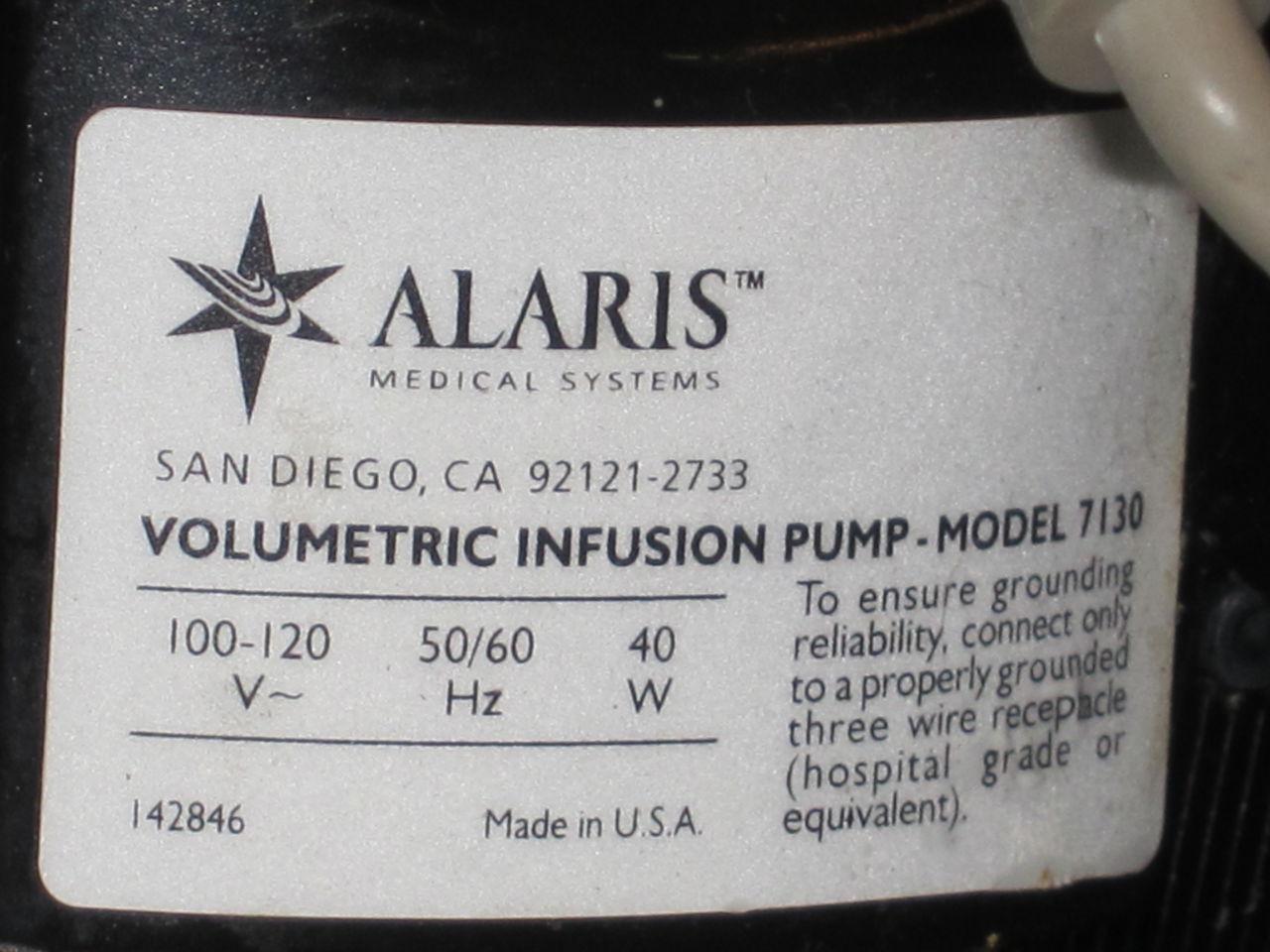 ALARIS 7103B Pump IV Infusion