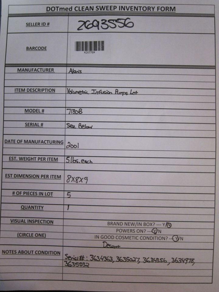 ALARIS 7130B Pump IV Infusion