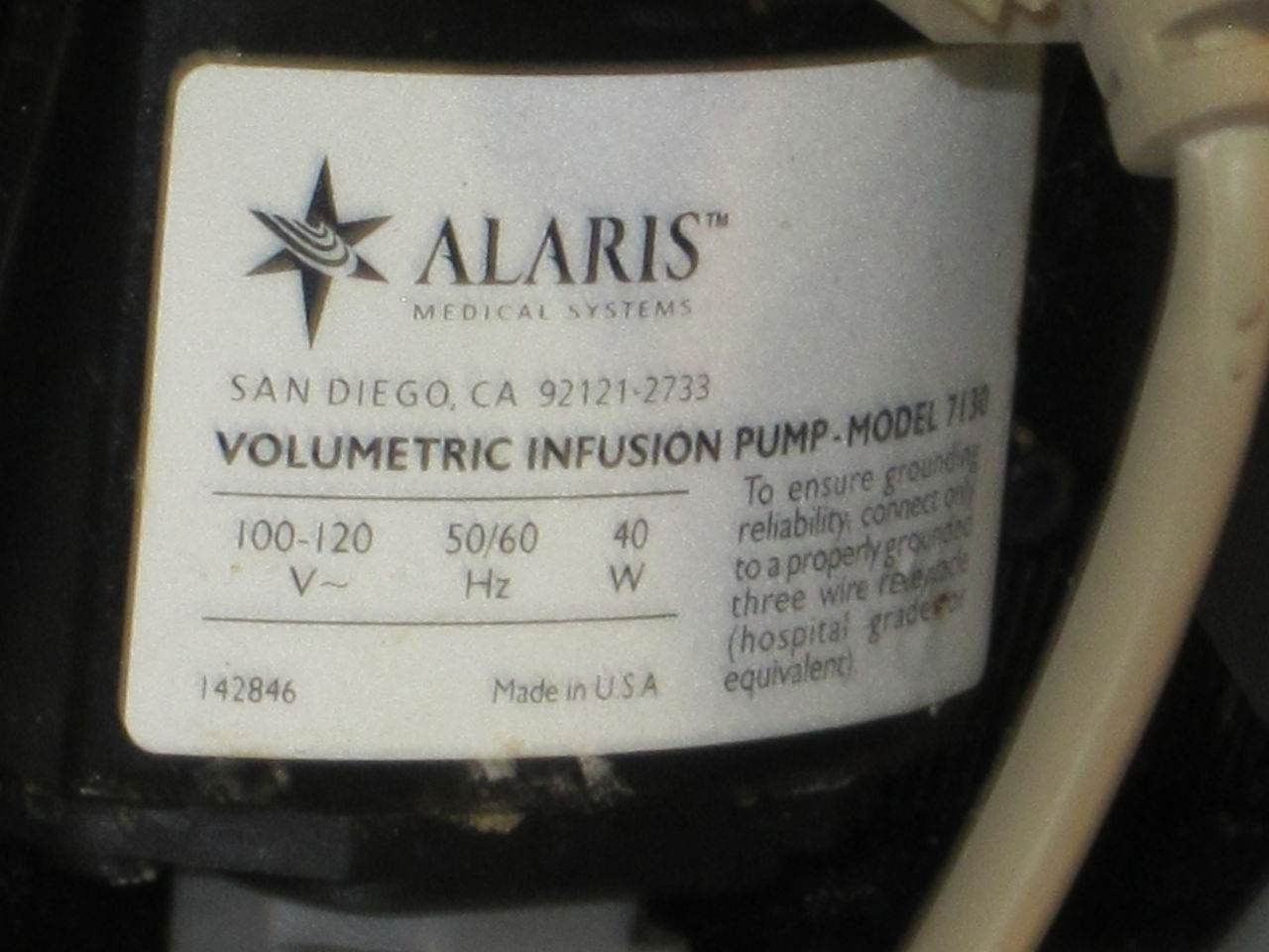 ALARIS 7130B Pump IV Infusion