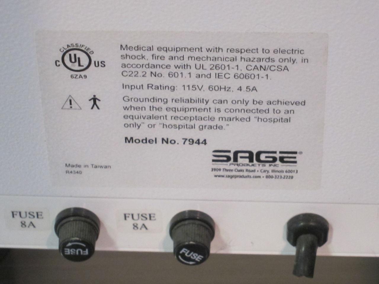 SAGE PRODUCTS 7944 Blanket / Solution Warmer