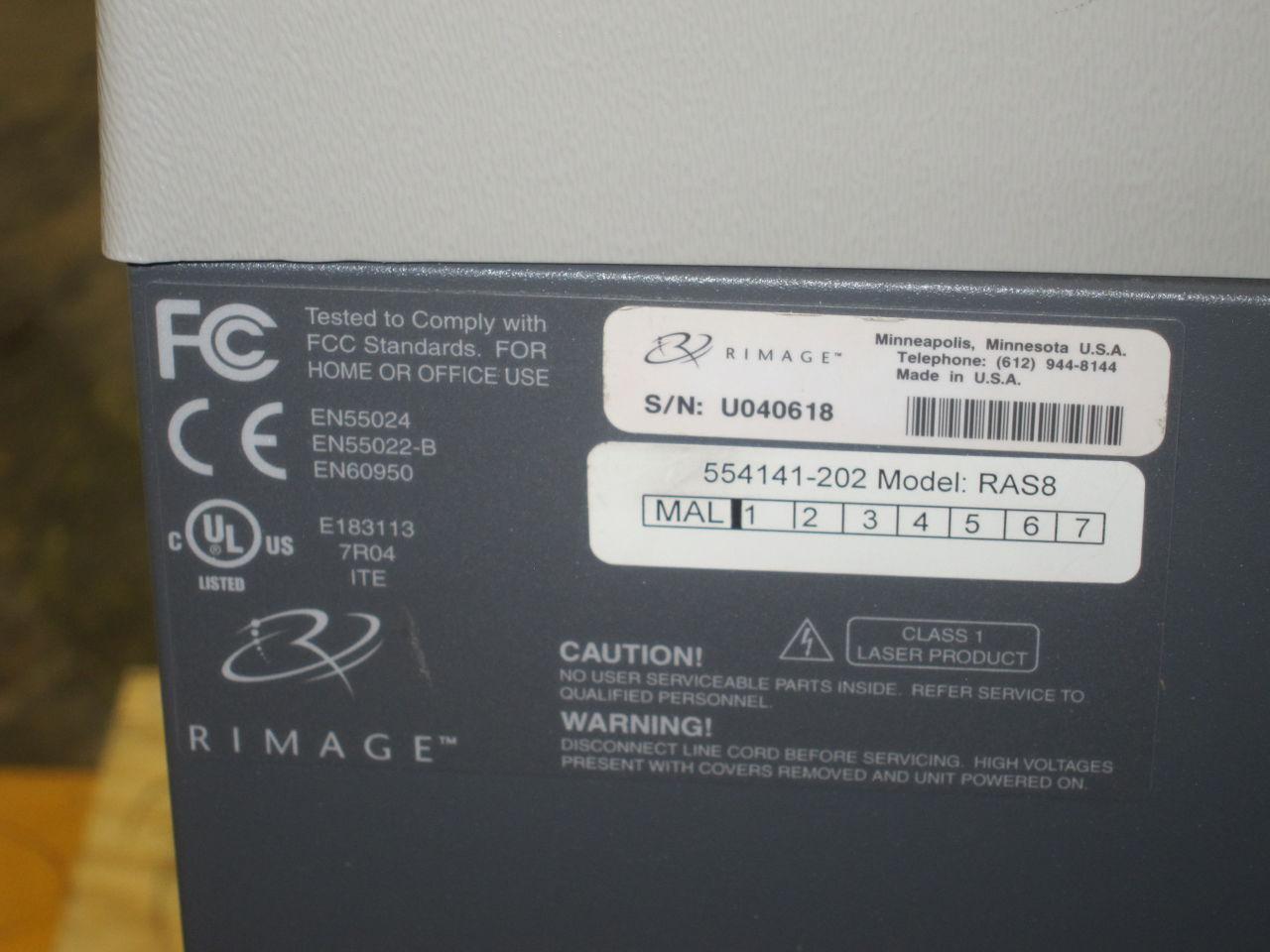 RIMAGE Amigo II CD/DVD Drive/Burner