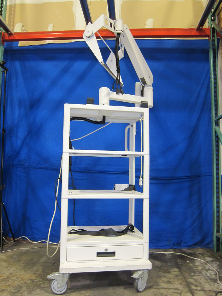 PROMEDICA  Empty Cart w/ Power Strip and TV/Monitor Mount