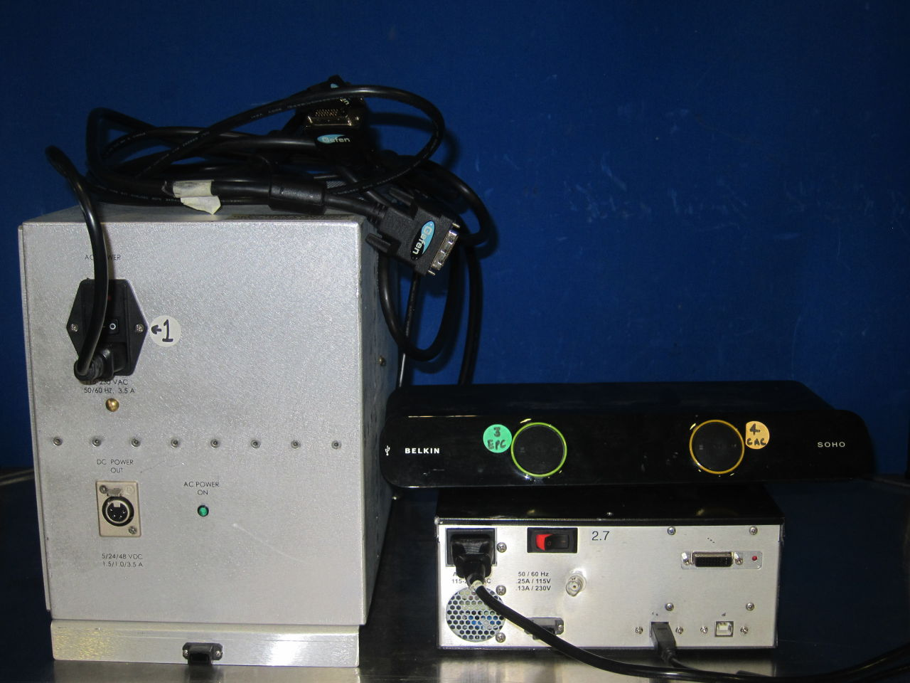 INVIVO Functional MRI  Stimulation Testing Equipment, USB Switch 2 Port, Power Supply