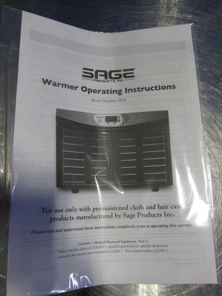 SAGE 7938 Blanket / Solution Warmer