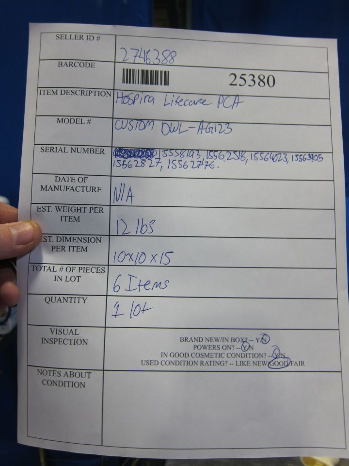HOSPIRA Lifecare PCA  - Lot of 6 Pump IV Infusion