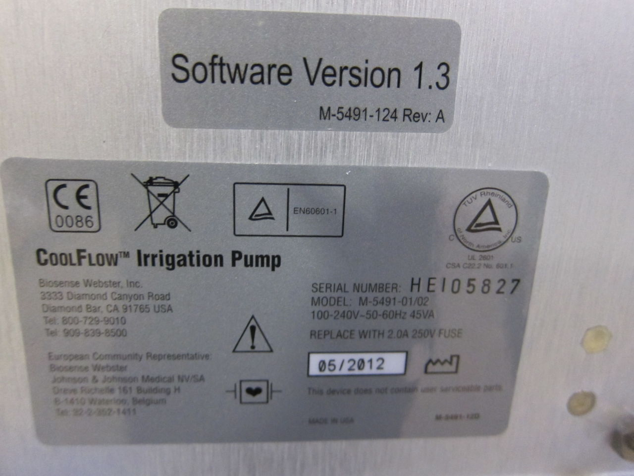 BIOSENSE WEBSTER CoolFlow Irrigation Pump