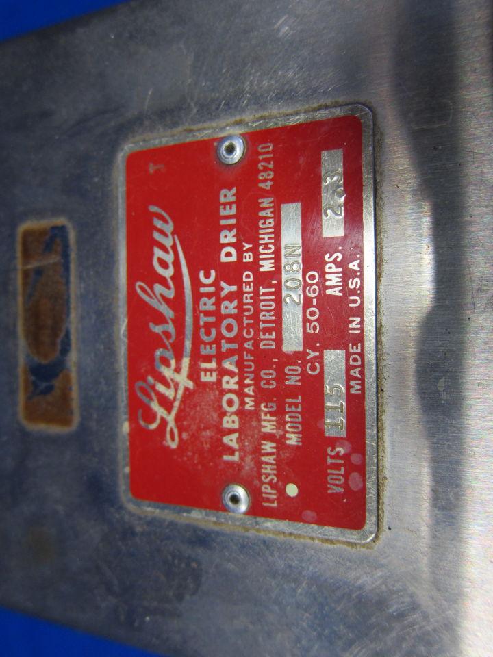 LIPSHAW 208N Dryer