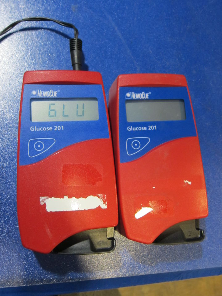 HEMOCUE Glucose 201  - Lot of 2 Glucose Analyzer