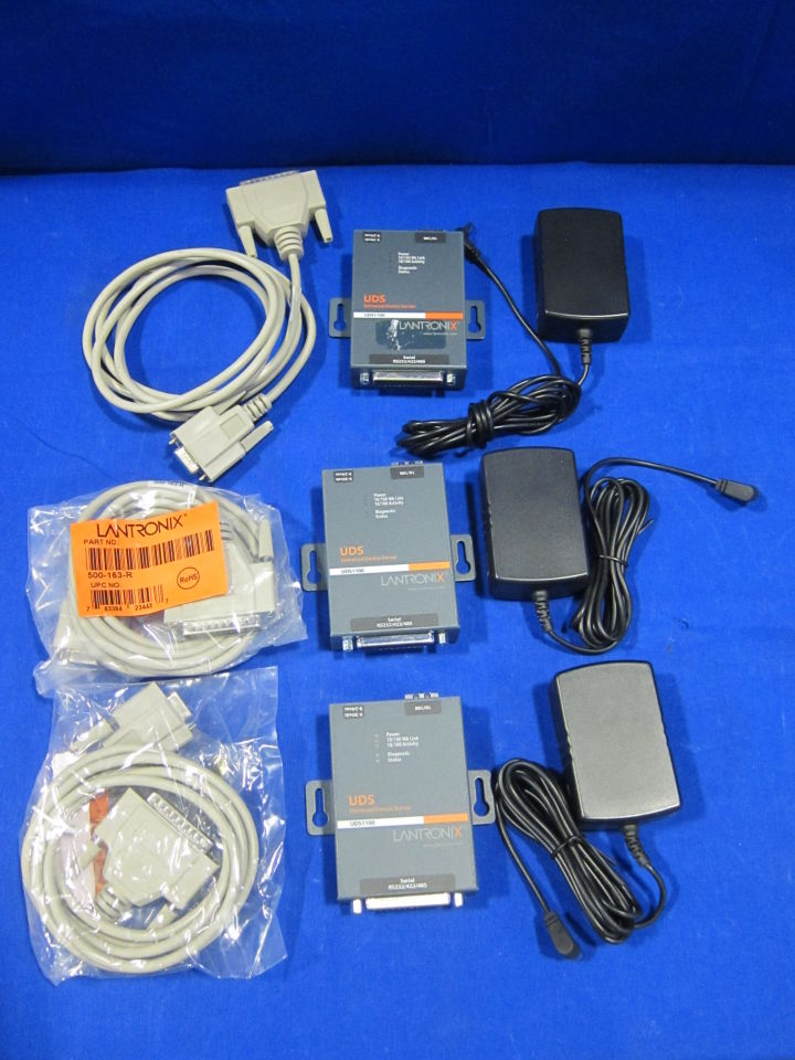 LANTRONIX UDS 1100 Serial To IP Adapter/Universal Device Server - Lot of 3