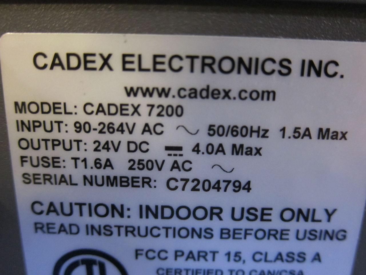 CADEX ELECTRONICS 7200 Battery Analyzer/Tester
