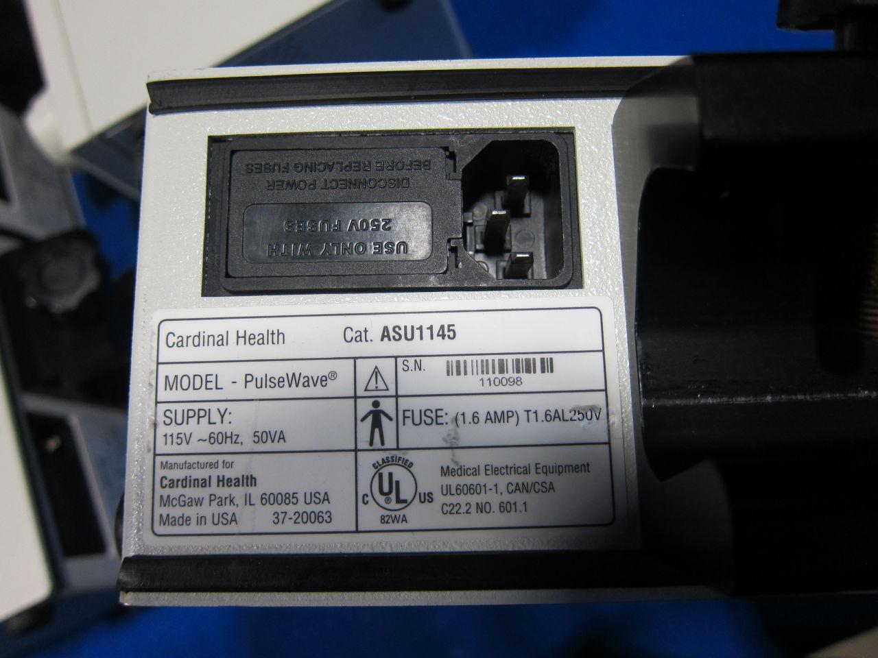 CARDINAL HEALTH Pulsewave Pump Suction