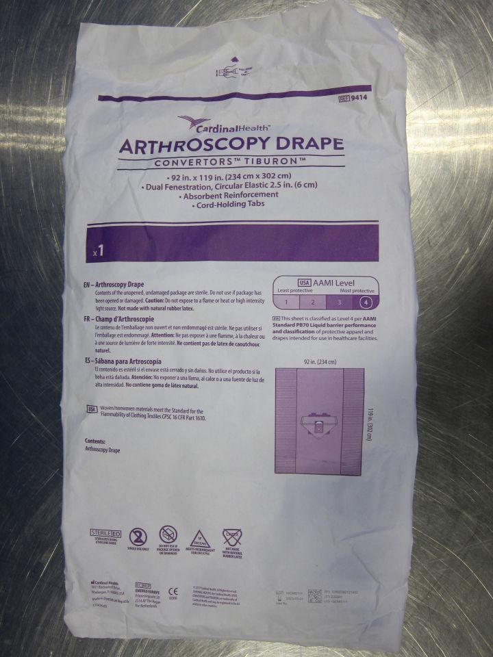 CARDINAL HEALTH Convertors 9414 Arthroscopy Drape - Lot of 12