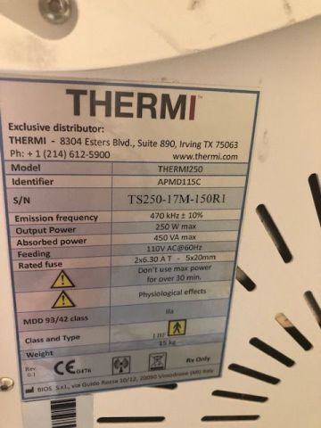 THERMI AESTHETICS ThermiSmooth Laser - Radio Frequency (RF)