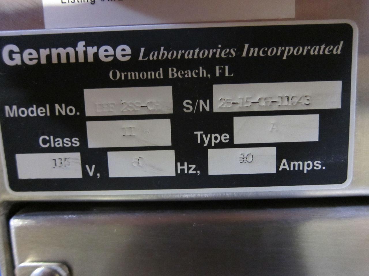 GERMFREE LABORATORIES BBF-2SS-CH Fume/Bio Safety Hood