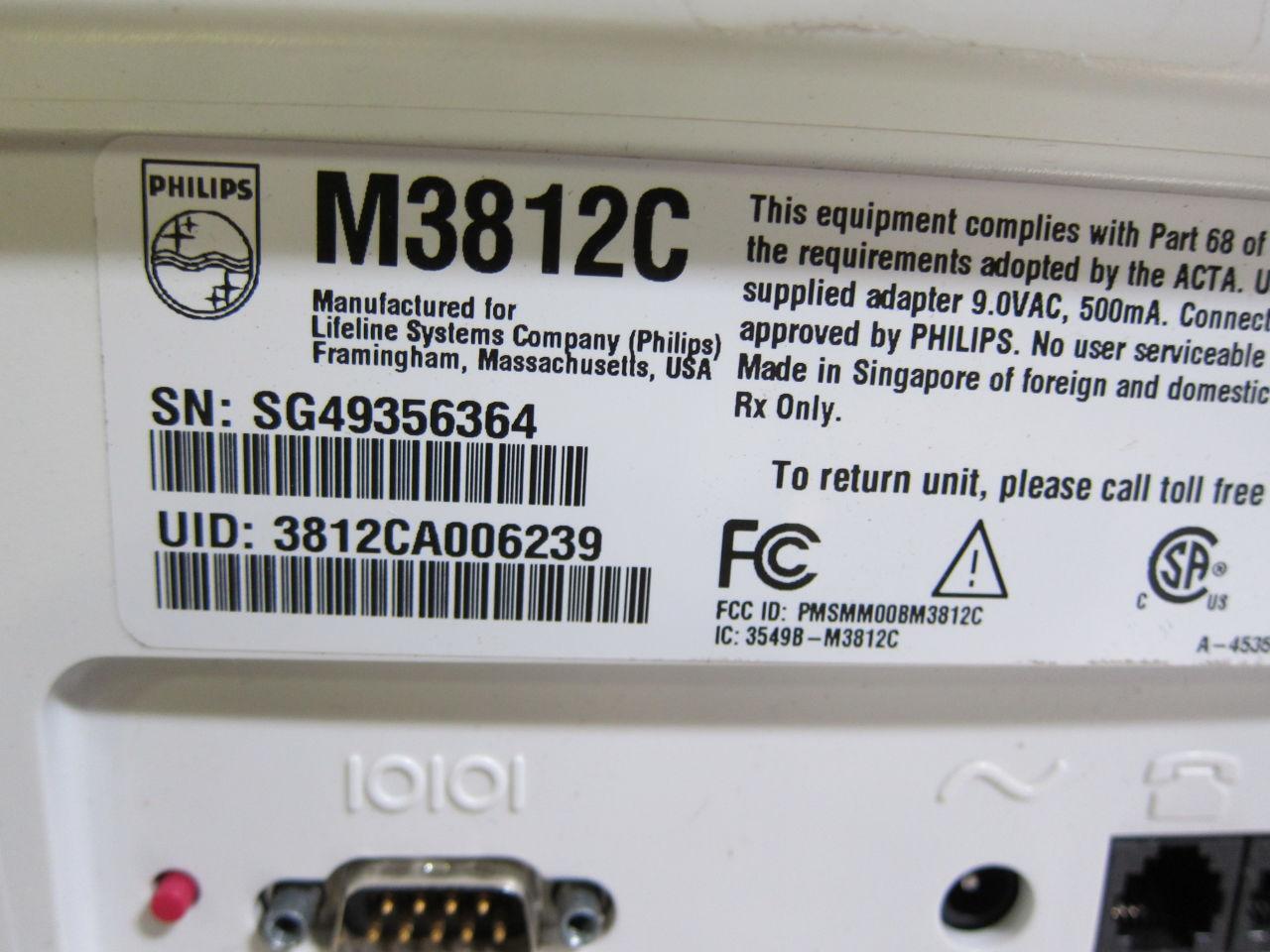 PHILIPS M3812C  - Lot of 5 Telemetry