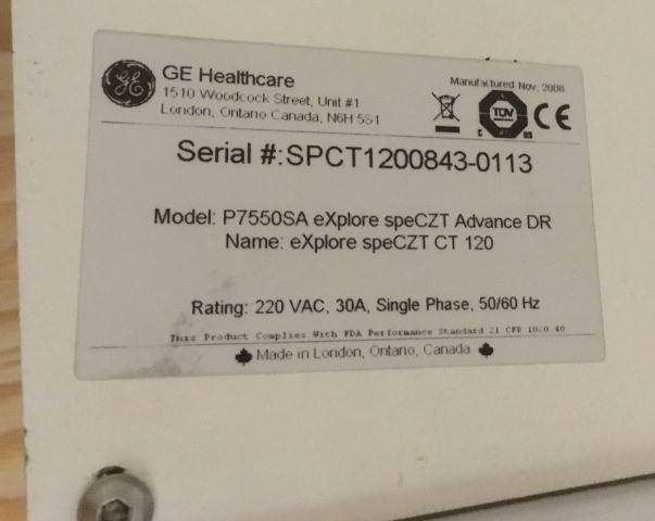 GE P7550SA eXplore speCZT Advance DR SPECT/CT