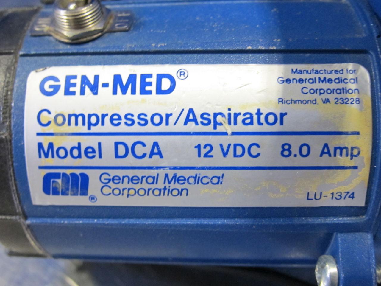 GEN-MED DCA  - Lot of 2 Aspirator