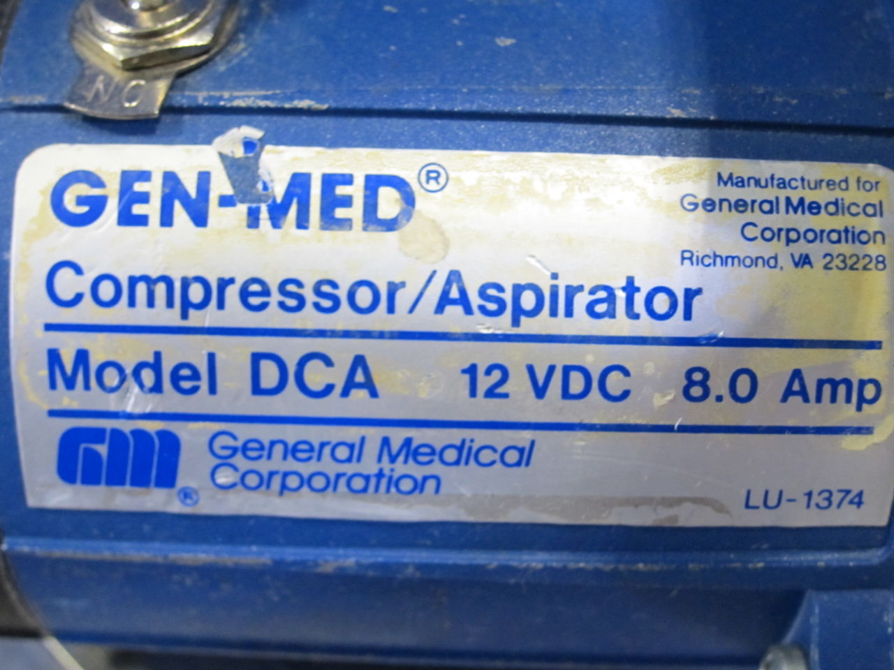 GEN-MED DCA  - Lot of 2 Aspirator
