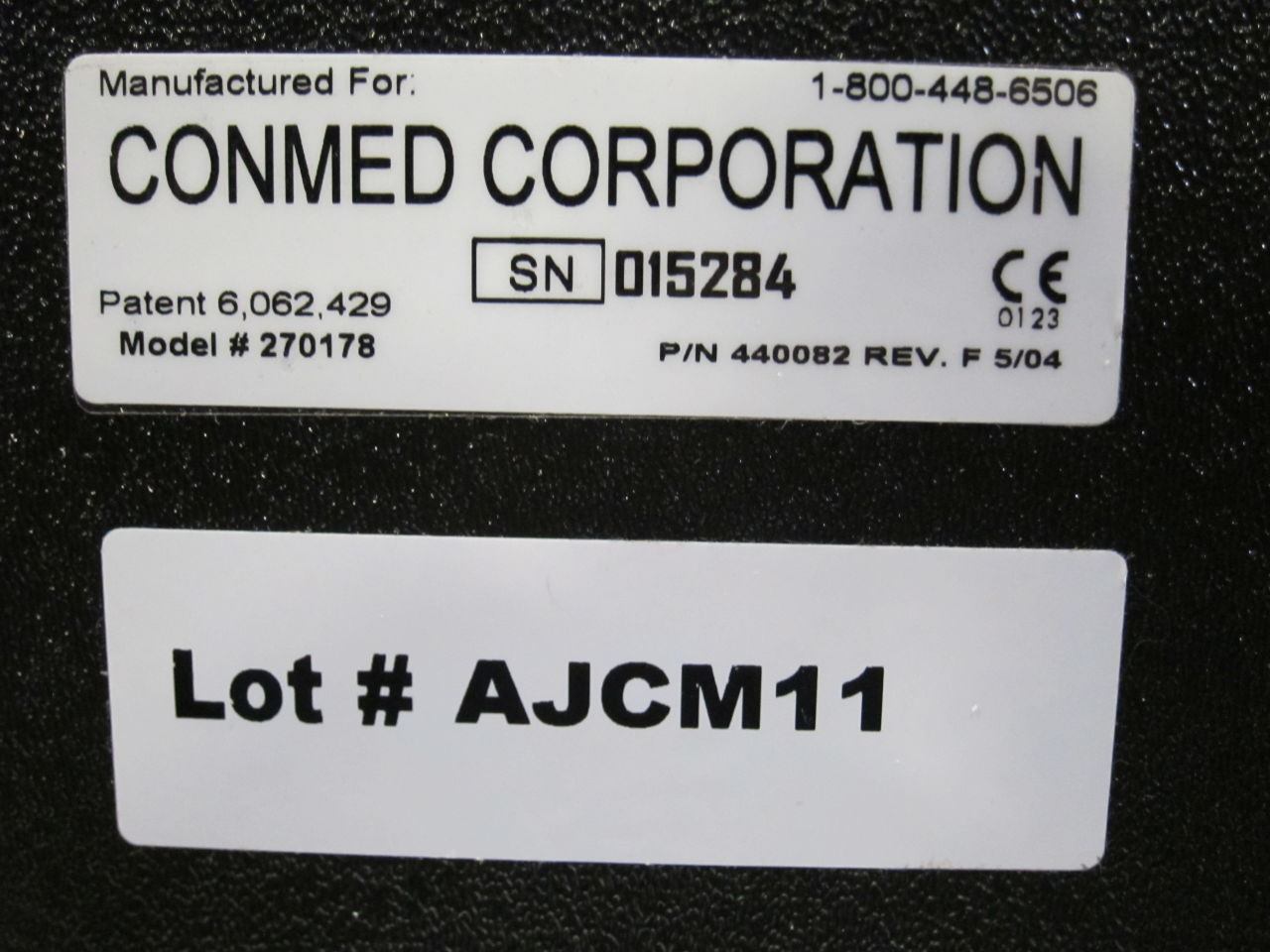 CONMED 270178 Irrigation Pressure Unit
