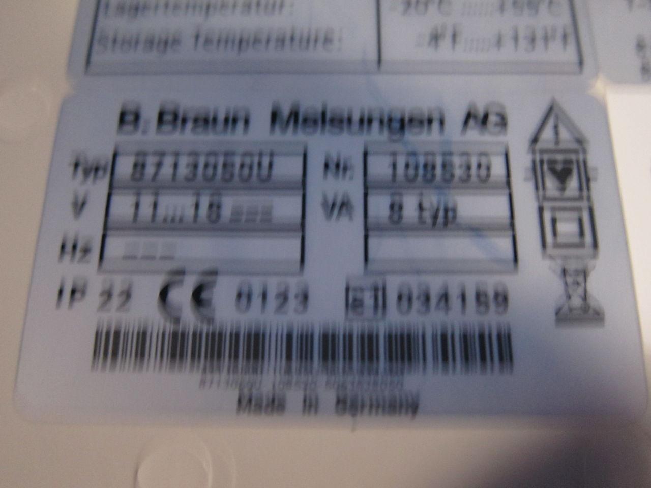 BRAUN 8713050U  - Lot of 3 Pump IV Infusion