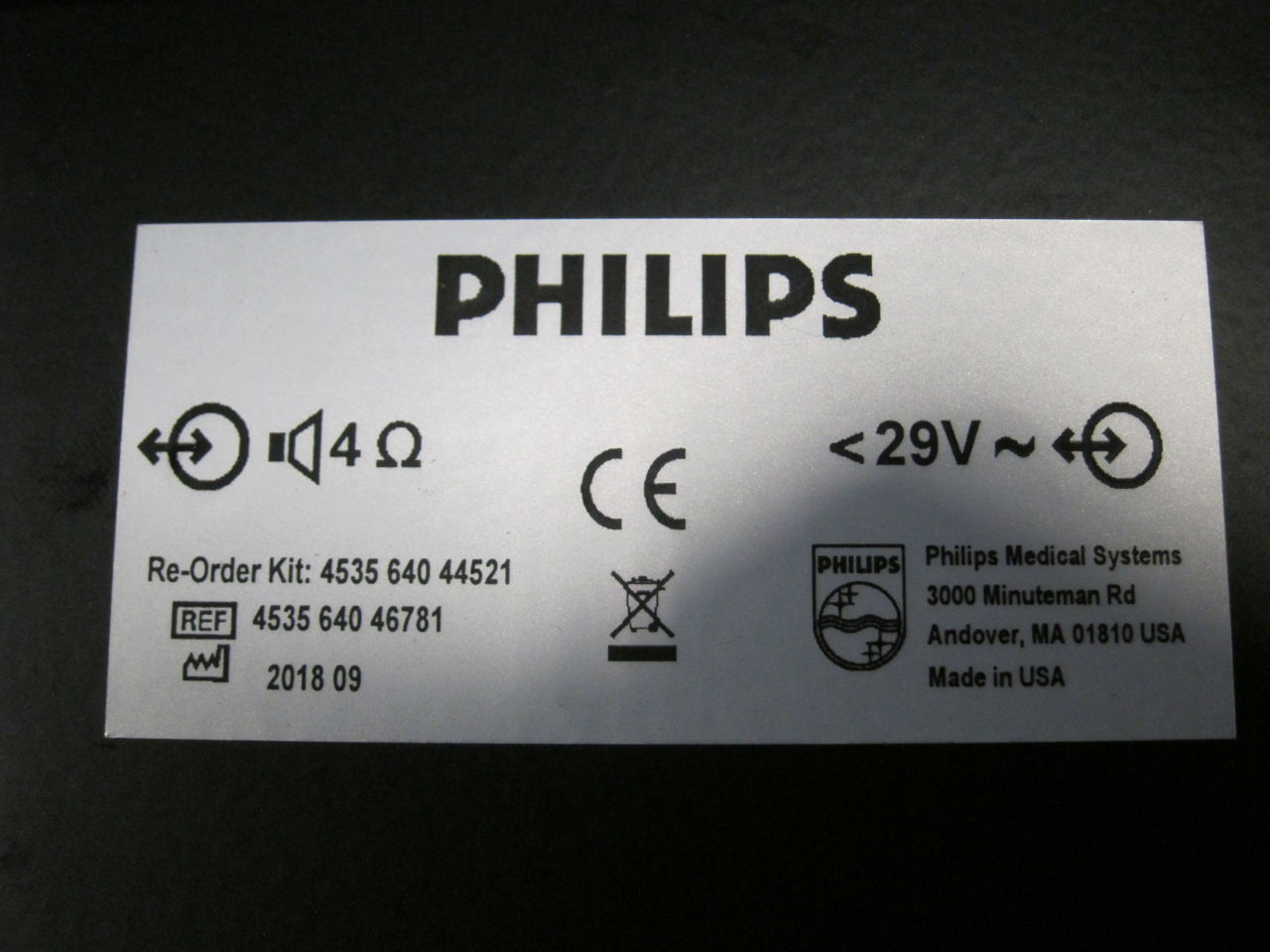 PHILIPS 4535 640 46781 Parts - Lot of 2 Cath Lab