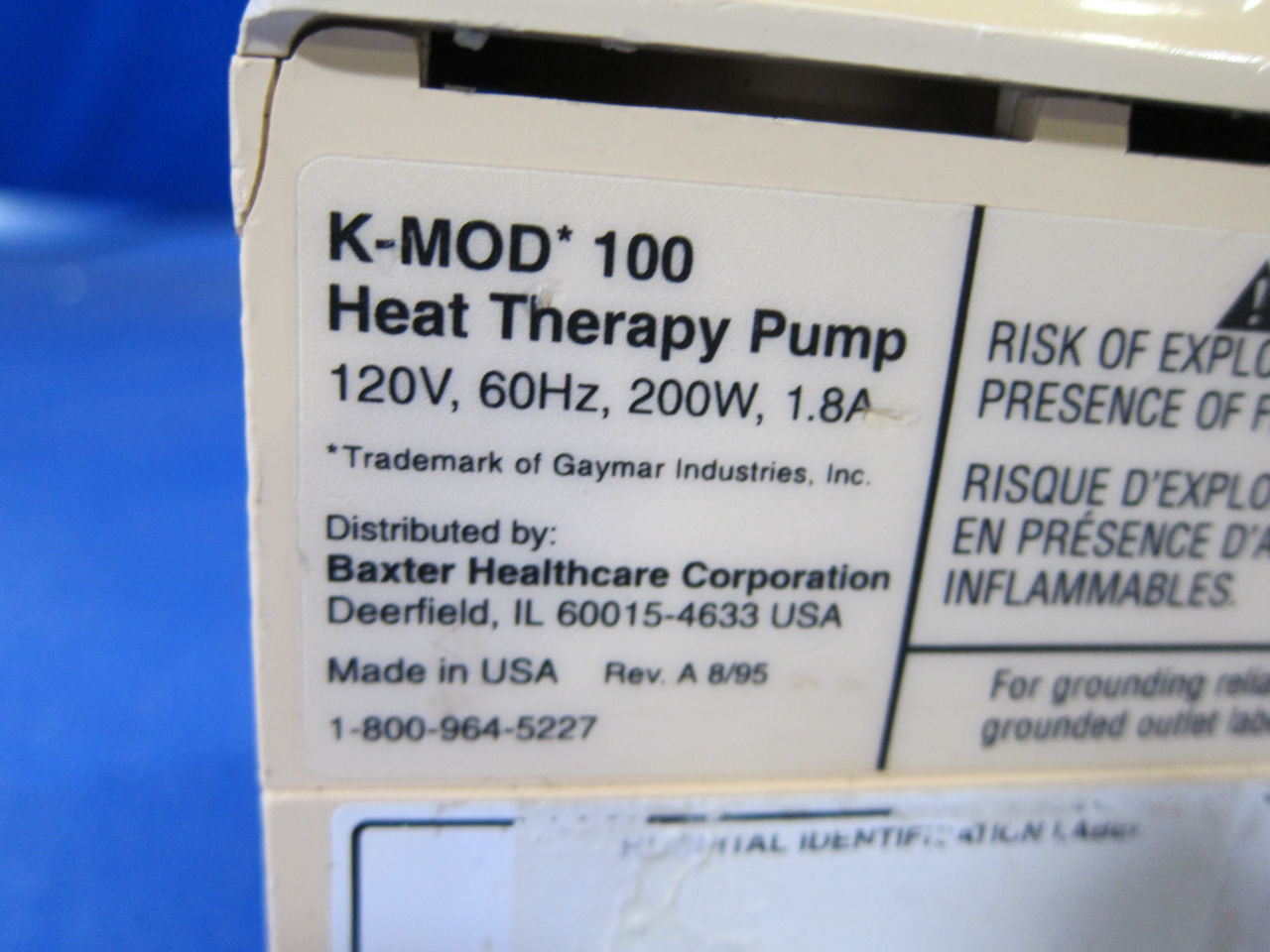 BAXTER K-MOD 100 Heat Therapy Unit