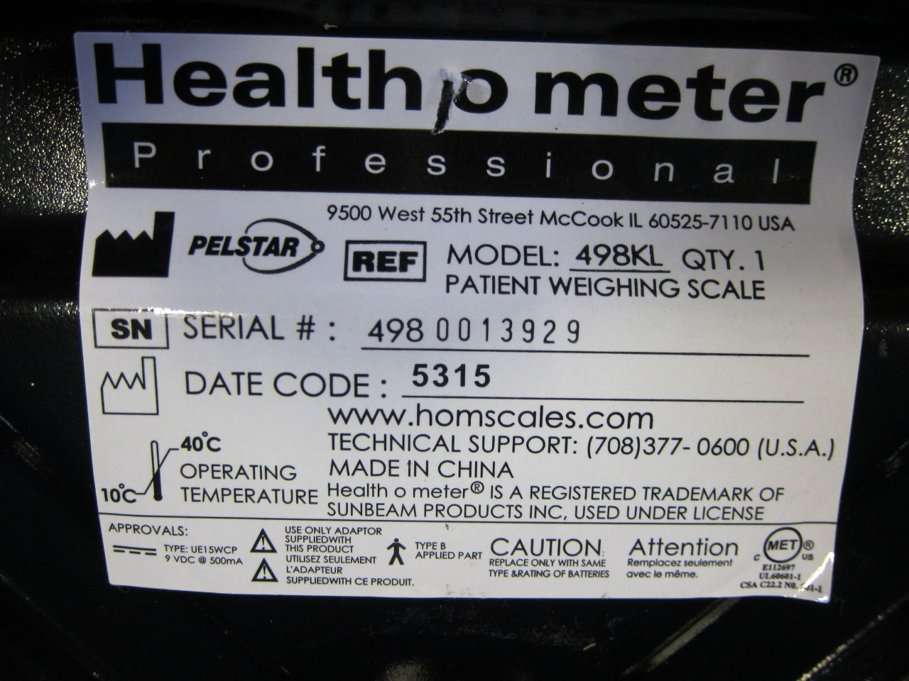 HEALTH O METER 498KL Scale