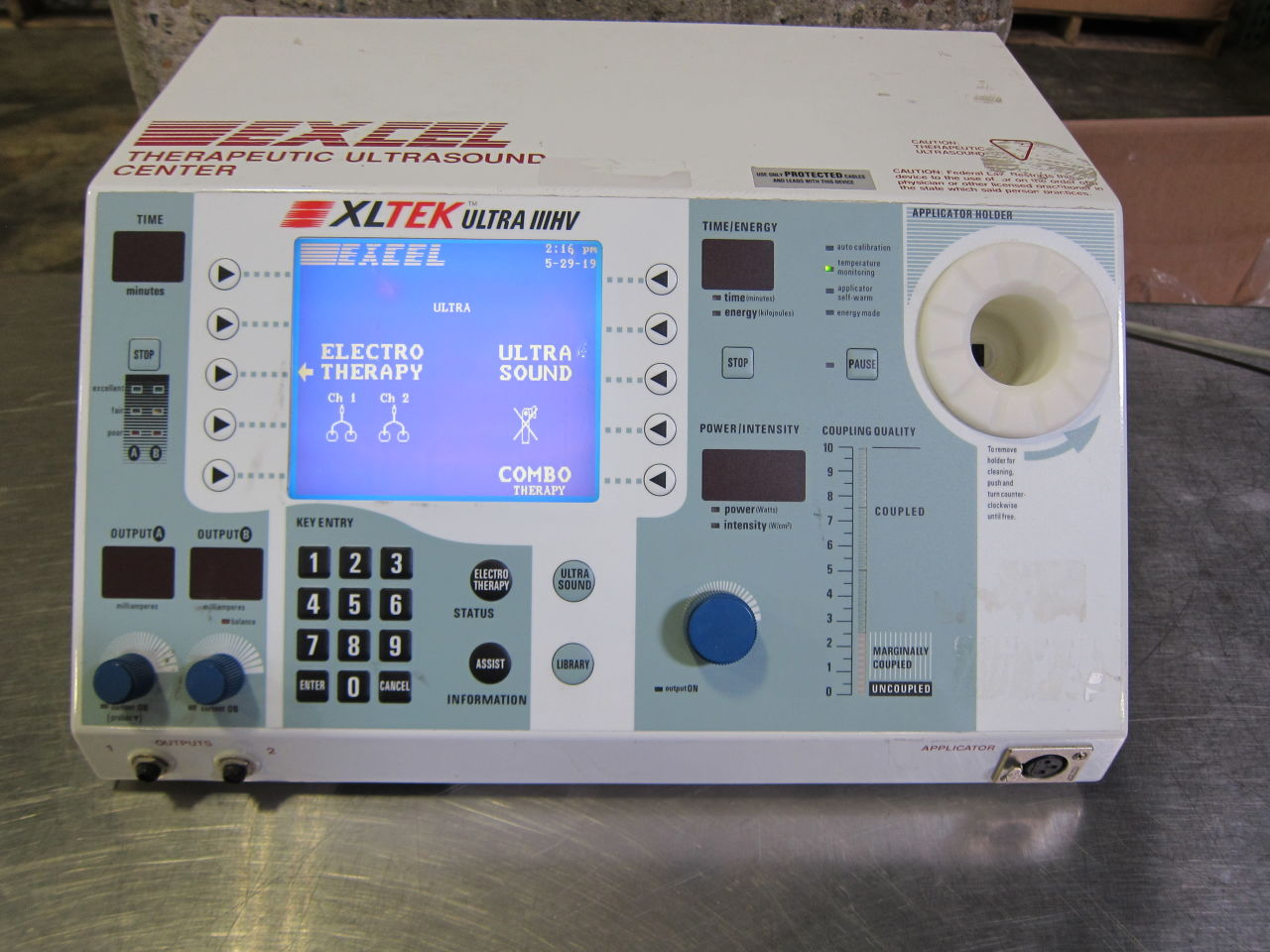 EXCELTECH EX-UL2 Ultrasound Therapy Unit