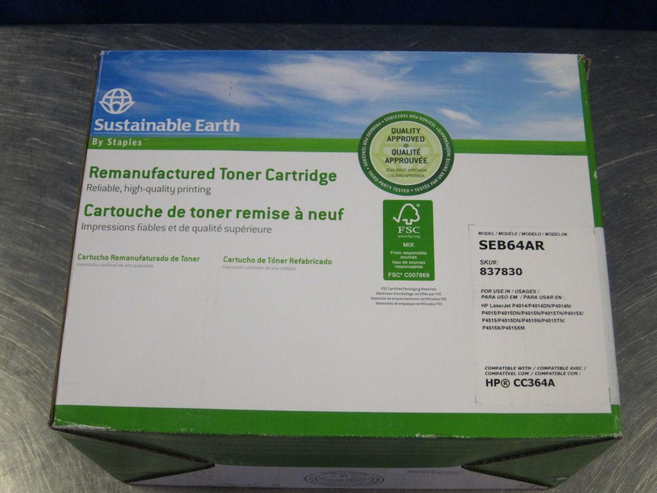STAPLES/SUSTAINABLE EARTH SEB64AR Toner Cartridges
