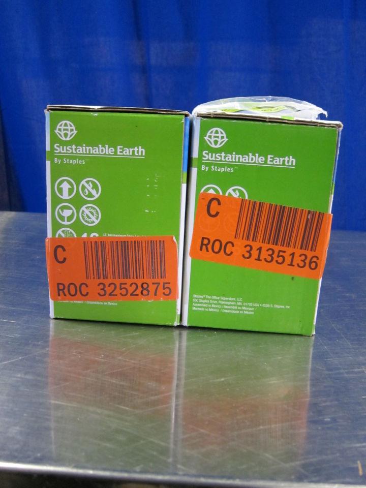 STAPLES/SUSTAINABLE EARTH Various Cyan/Black Print Cartridges - Lot of 2