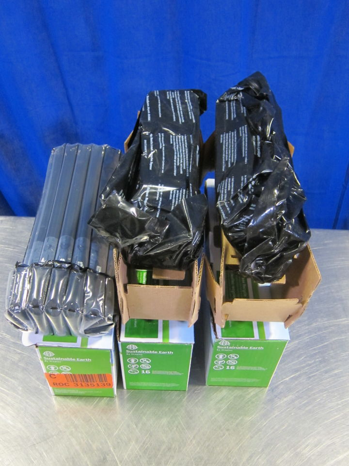 STAPLES/SUSTAINABLE EARTH Various Cyan/Black, Yellow Print Cartridges - Lot of 3