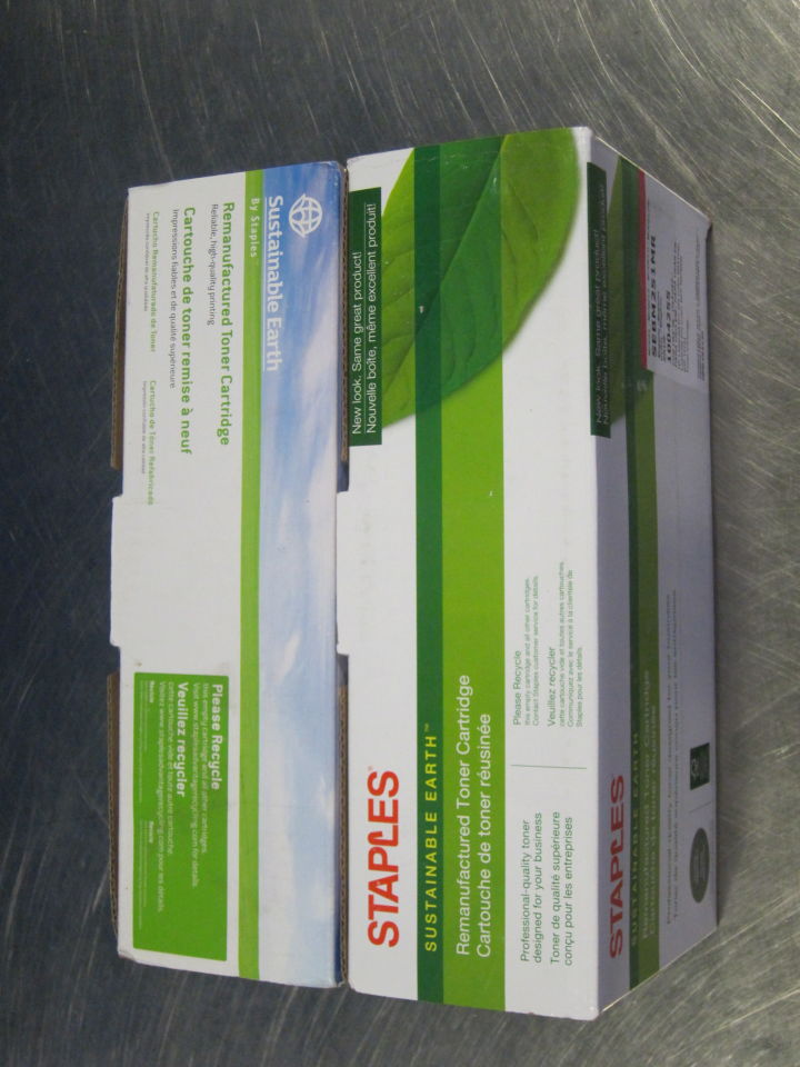 STAPLES/SUSTAINABLE EARTH Various Magenta Ink Cartridges - Lot of 2