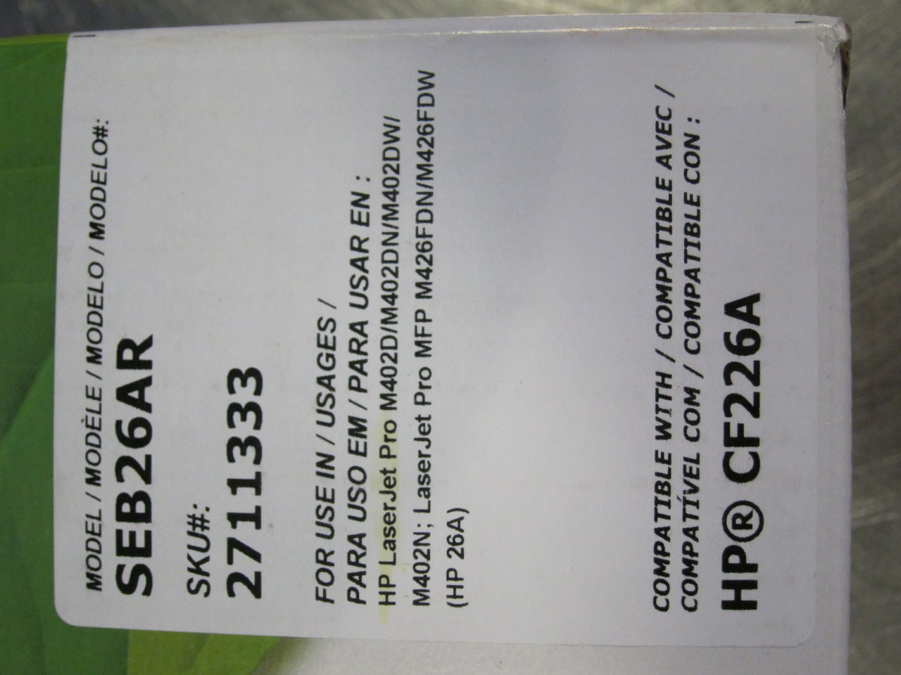 STAPLES/SUSTAINABLE EARTH SEB26AR Toner Cartridge