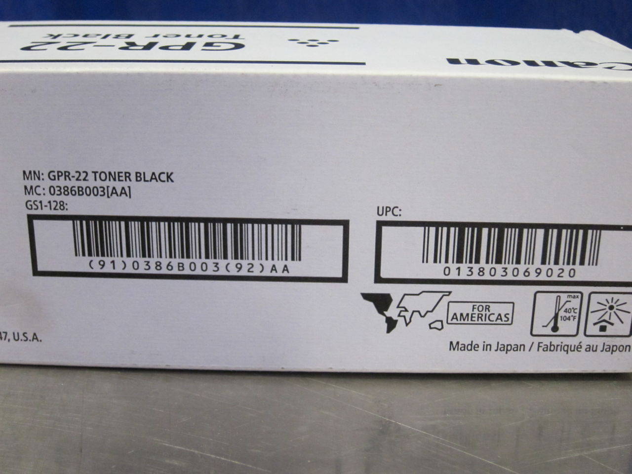CANNON GPR-22 Black Toner Cartridge