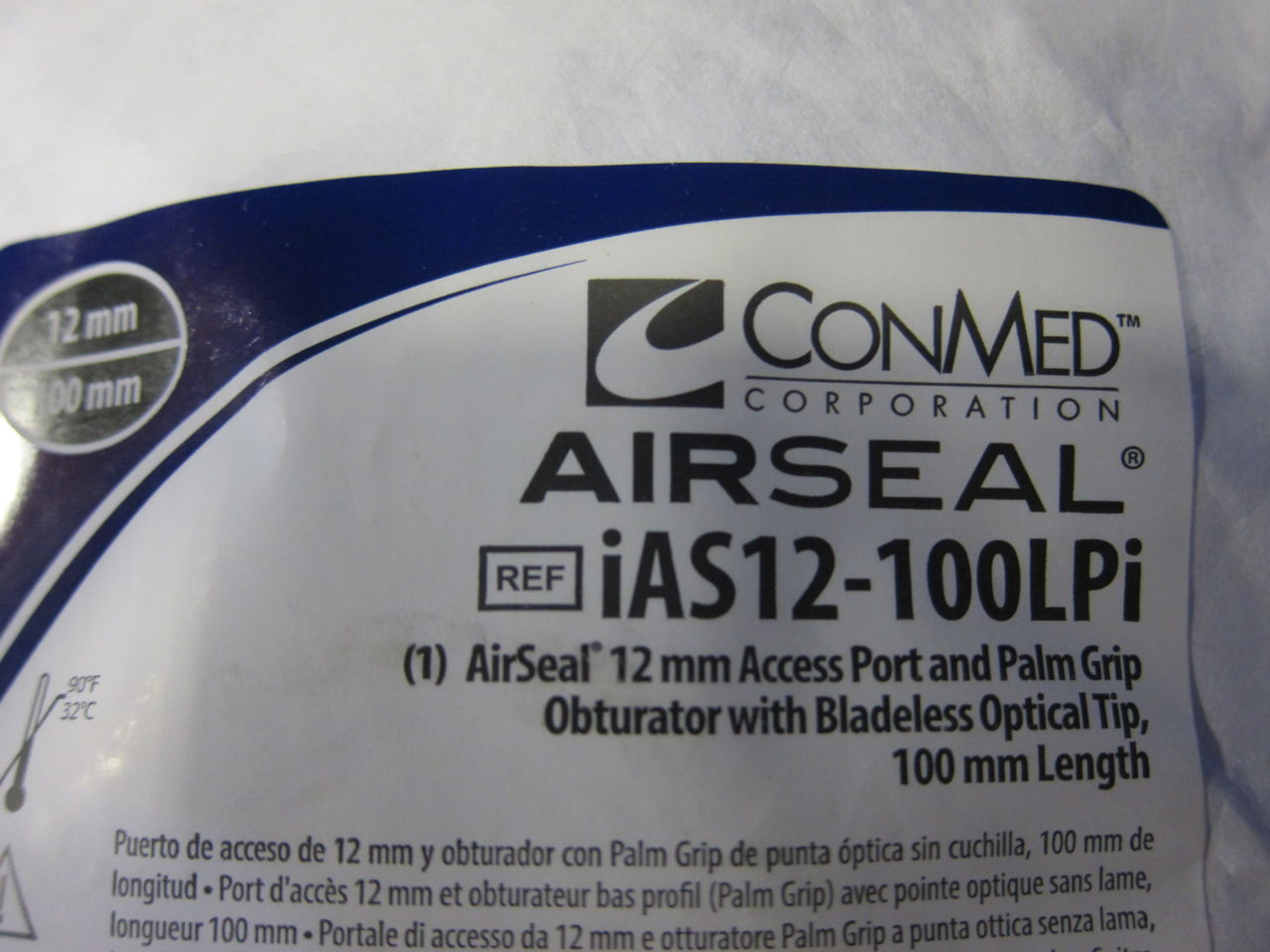 CONMED AirSeal Access Port, Palm Grip Obturator - Lot of 10