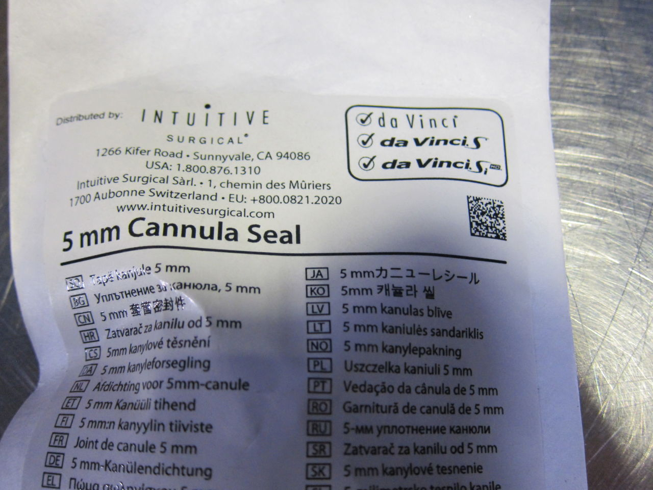 INTUITIVE SURGICAL DA VINCI 400161 Cannula Seal - Lot of 31