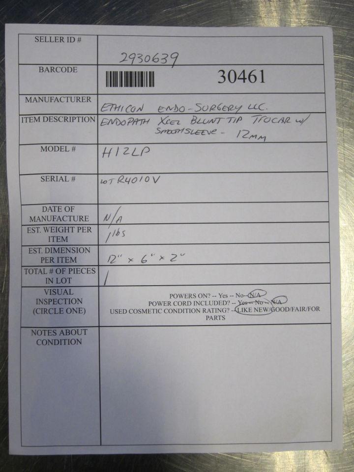 ETHICON Endopath Xcel Bladeless Trocar w/ Sleeve