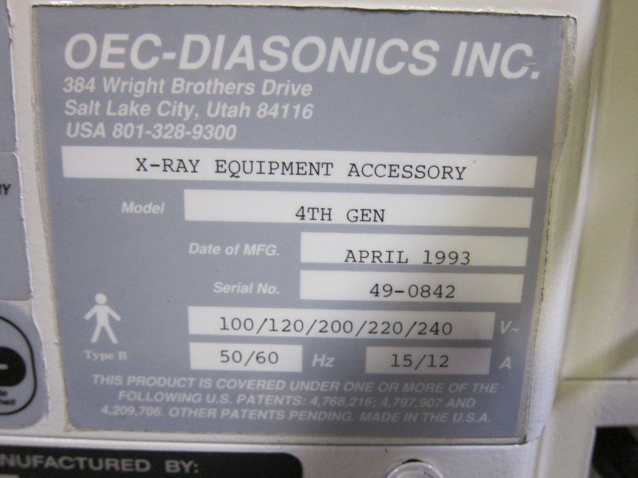 OEC - DIASONICS 9400 Series C-Arm