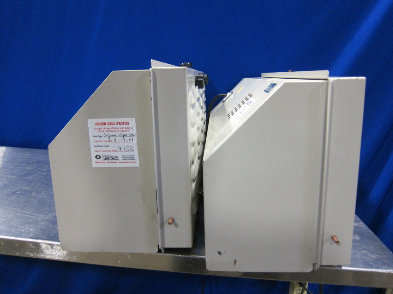 LABCONCO 6900000 Exhaust Hood - Lot of 2 Fume/Bio Safety Hood