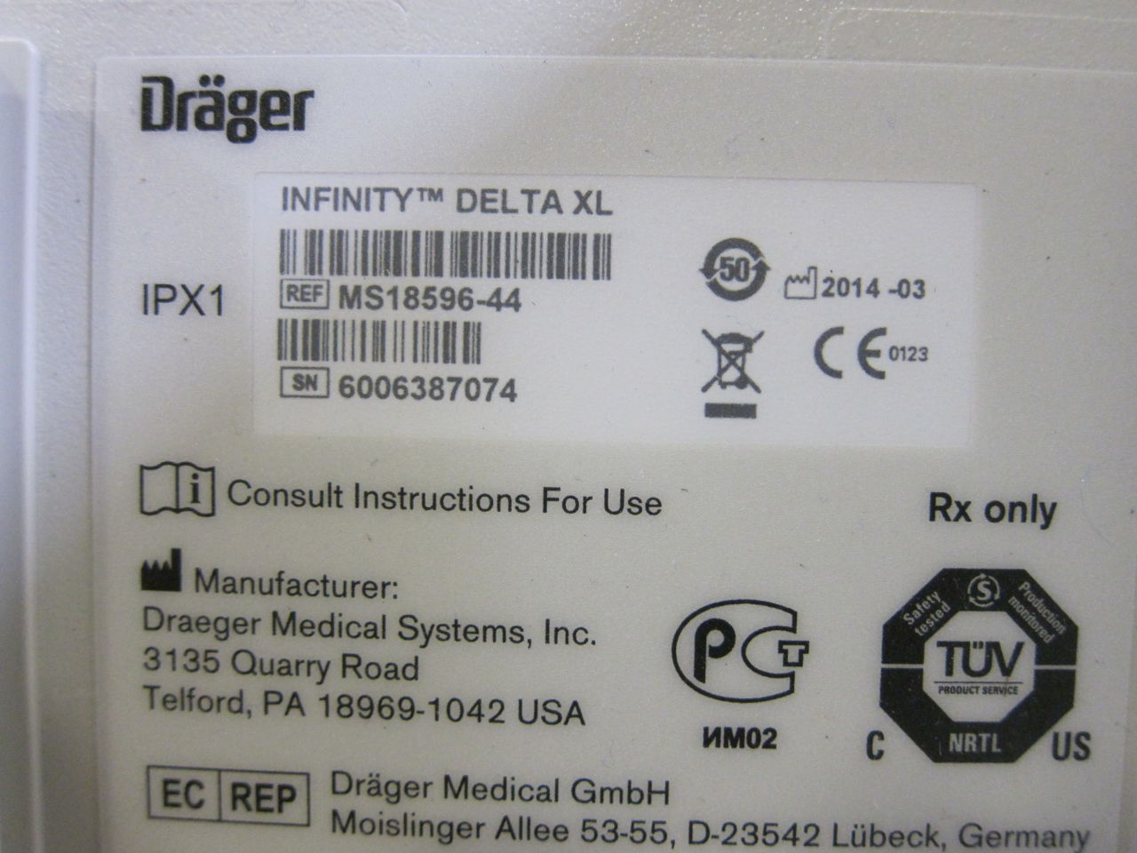 DRAGER Infinity Delta XL Monitor
