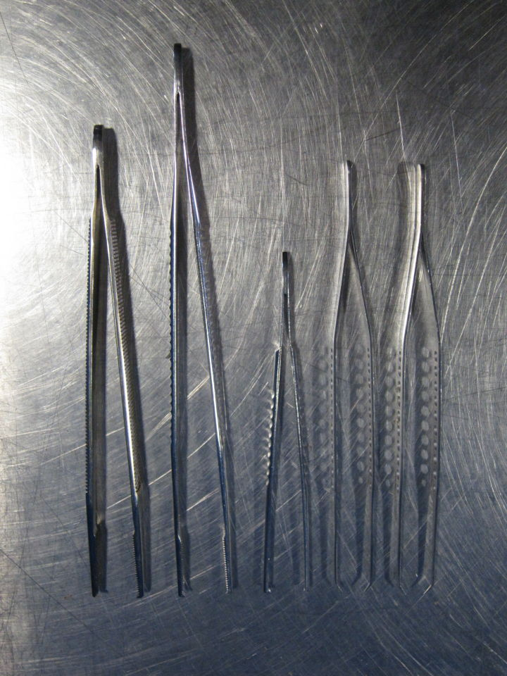 VARIOUS  Various Stainless Steel Forceps - Lot of 5