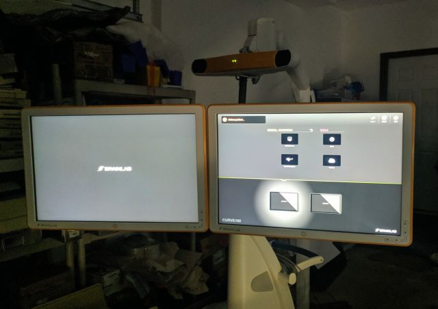 BRAINLAB Curve Image Guided Surgery Dual Monitors Surgical Navigation System