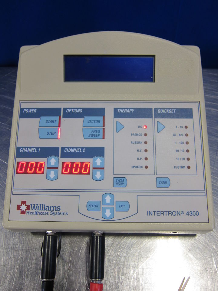WILLIAMS HEALTHCARE SYSTEMS Intertron 4300 Ultrasound Therapy Unit