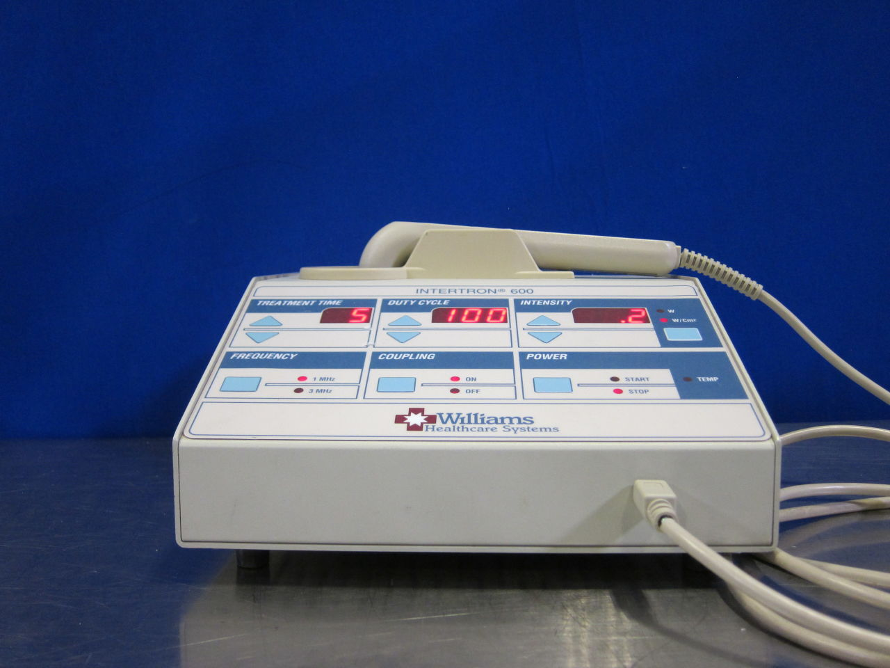 WILLIAMS HEALTHCARE SYSTEMS Intertron 600 Ultrasound Therapy Unit