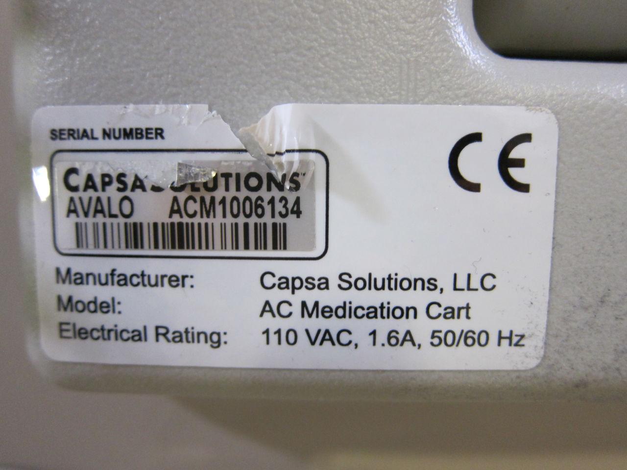 CASPA SOLUTIONS AC Pharmacy/Med Cart