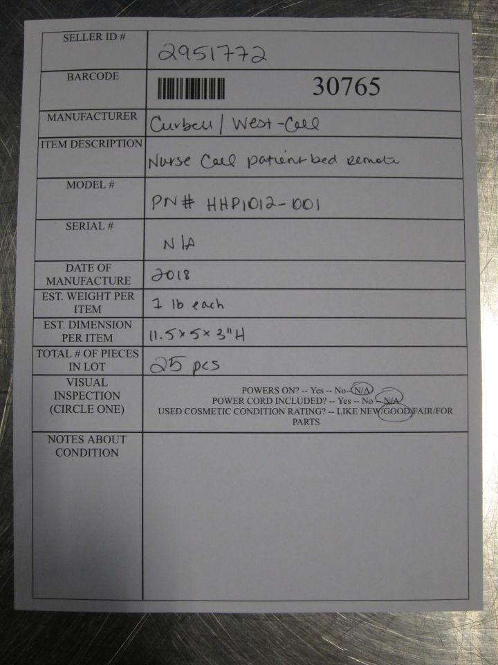 CURBELL PN#: HHP1012-001  - Lot of 25 Telemetry