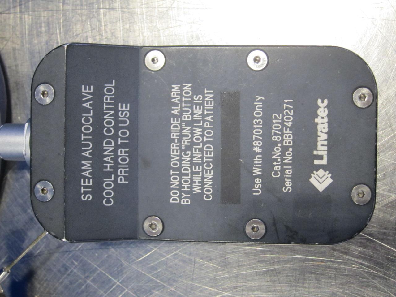 LINVATEC 87013 Hand Control Arthroscopy Pump